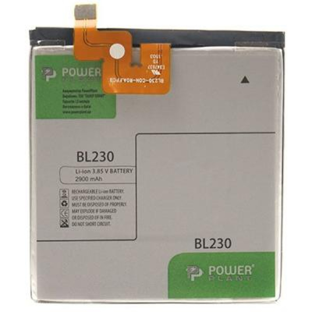 Аккумуляторная батарея PowerPlant Lenovo Vibe Z2 (BL230) 2900mAh (DV00DV6304)
