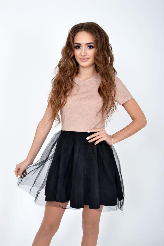 Платье женское цвет Бежевый размер L
