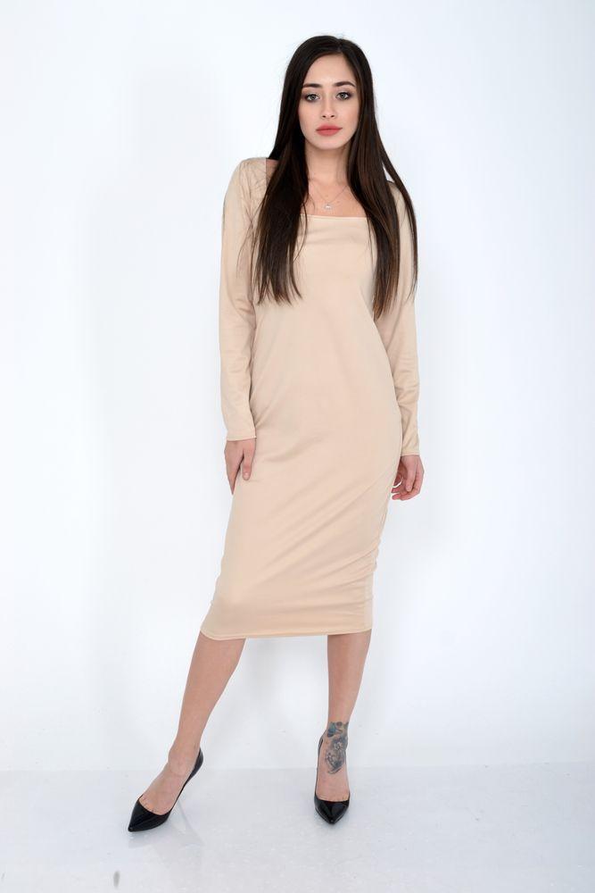 Платье женское цвет Бежевый размер S-M
