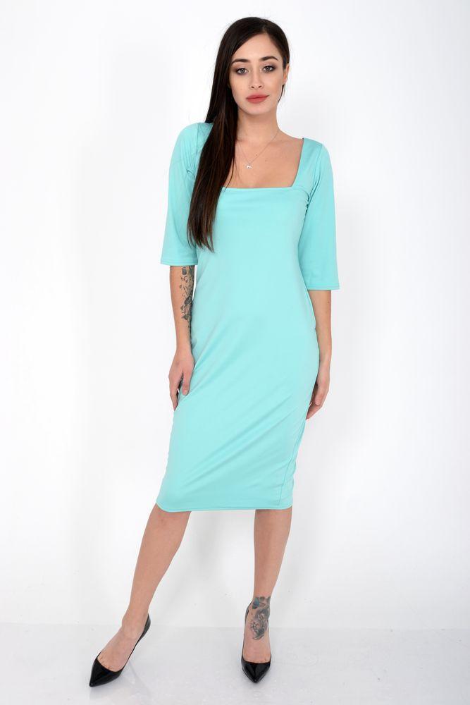 Платье женское цвет Бирюзовый размер S-M