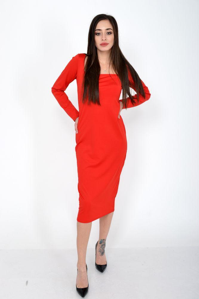 Платье женское цвет Красный размер S-M