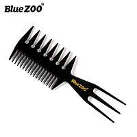 Расческа-гребень Blue ZOO тройной зубец черная