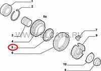 Синхронизатор 5 передачи 1.4 8v-1.6 16v Doblo 46772295