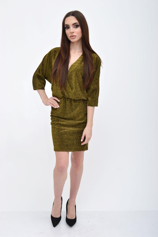 Платье женское цвет Золотистый