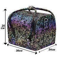 Чемодан кейс текстурный принт, маникюрная сумка для мастера, кож.зам, цвета в ассортименте, фото 1