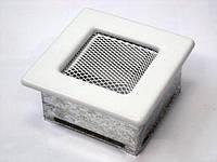 Вентиляционная решетка Kratki 11х11 см белая, фото 1