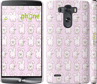 """Чехол на LG G3 dual D856 Зайчики на розовом фоне """"239c-56"""""""