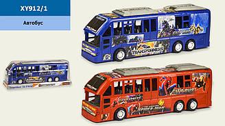 Автобус інерційний XY912/1 (1709165/8) (60шт/2) 2 види, іграшка - 37*8*12 см, під слюдою 39,5*10*14 см
