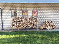 Стос дровниця для запасу дров подвійна пряма