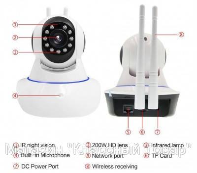 SALE! Беспроводная WiFi Smart Camera V380 IPC-T9810-Q5(T)