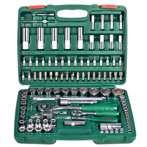 """Набор торцевых головок Hans Tools 1/2"""" Dr 10-32 мм и 1/4"""" Dr 4-14 мм 108 предметов TK-108"""