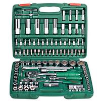 "Набор торцевых головок Hans Tools 1/2"" Dr 10-32 мм и 1/4"" Dr 4-14 мм 108 предметов TK-108, фото 1"