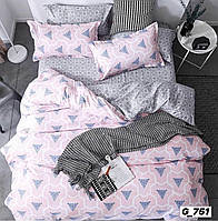 Двуспальное постельное бельё Голд бязь люкс