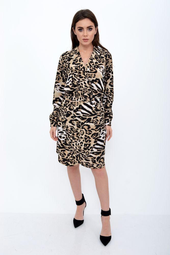 Платье женское цвет Тигровый размер 38