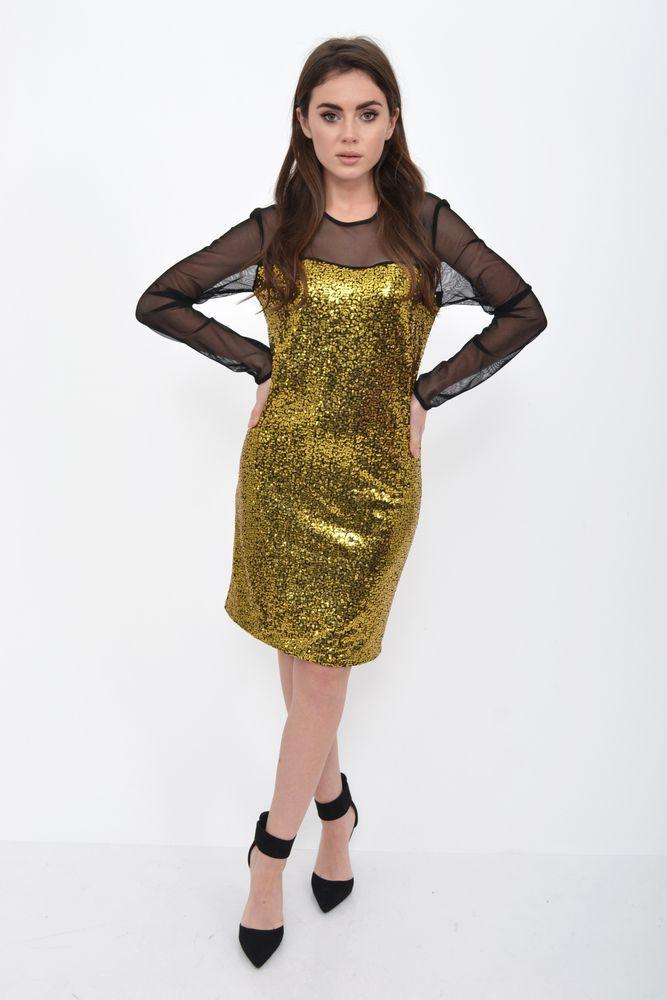 Платье женское цвет Золотистый размер 36