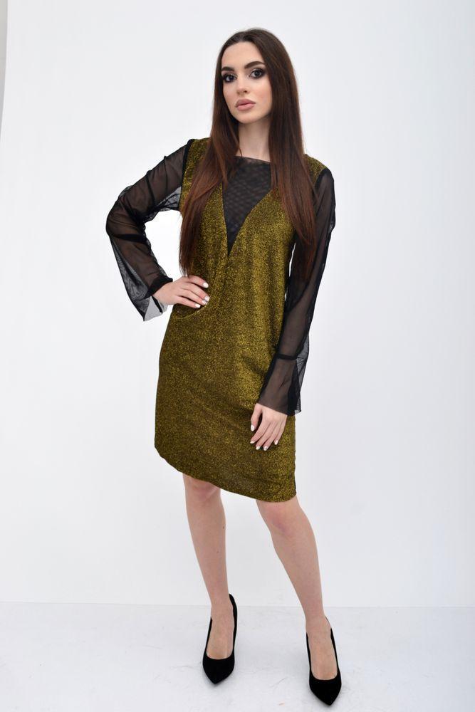 Платье женское цвет Золотистый размер 38