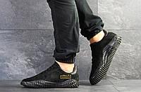Мужские кроссовки Adidas Kamanda,замшевые,черные