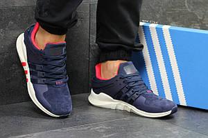 Кроссовки Adidas Equipment adv 91-17,замшевые,синие с белым