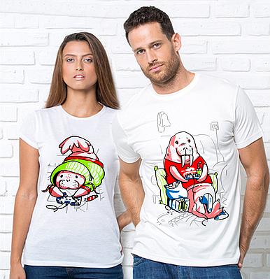 Парные футболки, Геймеры Парні футболки з принтом Геймери