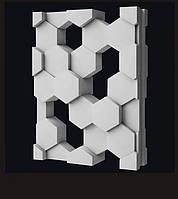 Гипсовые 3D перегородки Соты, фото 1