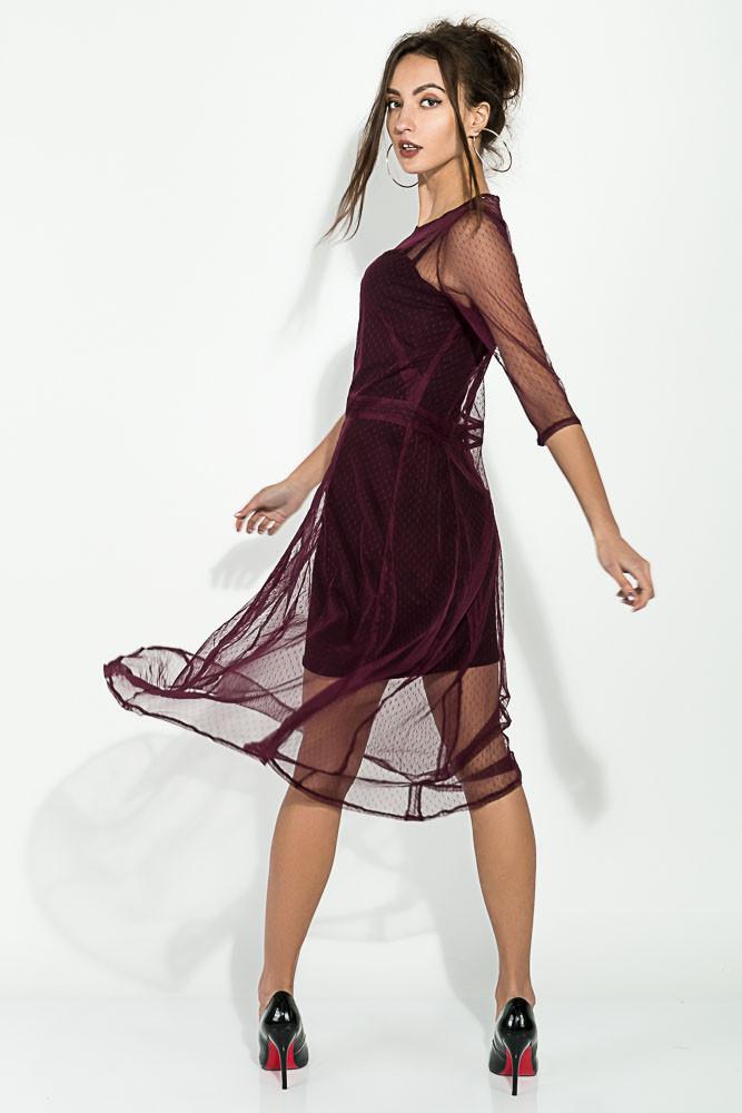 Платье женское цвет Марсала размер 36