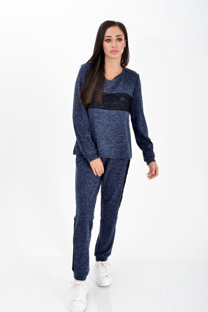 Спортивный костюм женский, батал  цвет Темно-синий