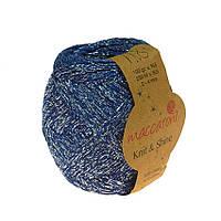 Хлопковый шнур Maccaroni Knit&Shine Цвет Синий электрик