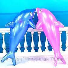 SALE! Надувной дельфин для купания, 80 см СИНИЙ!!!(ПРОДАЕТСЯ УПАКОВКОЙ-11ШТ!!!)