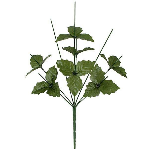 Нога букетная 9-ка с листом, 47 см(10 шт в уп)