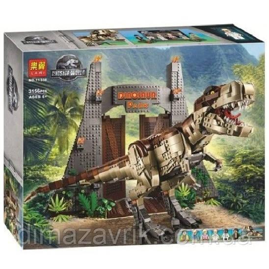 """Конструктор Bela 11338 (Аналог Lego Jurassic World 75936) """"Парк Юрского периода: ярость Ти-Рекса"""" 3156деталей"""