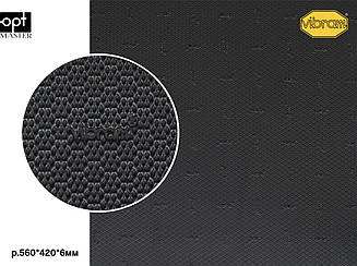DUPLA (7279), цв.черный (АA), т.6мм резина набоечная Vibram