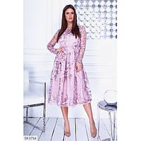 Женское ажурное вечернее платье  норма размеры S, M, L цвет сиреневый