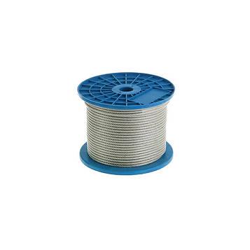 Трос стальной в ПВХ оплетке MMG DIN 3055  6 х 7  1/2 мм (Цинк)  1 метр