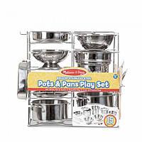 Делюкс - набор посуды из нержавеющей стали , 15 предметов, Melissa&Doug