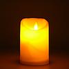 Декоративная светодиодная свеча на батарейках, 7,5х10,5см. эффект настоящего пламени