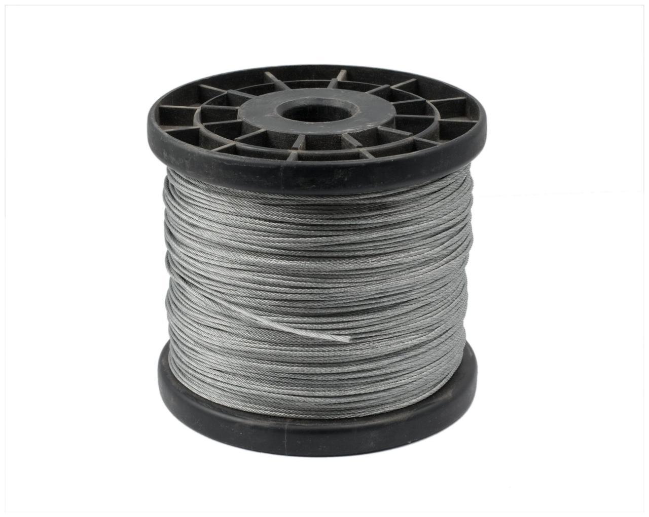 Трос стальной  MMG DIN 3053 1 х 19  1 мм (Цинк)  1 метр