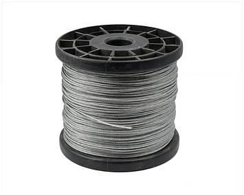 Трос стальной  MMG DIN 3060 6 х 19  8 мм (Цинк)  1 метр