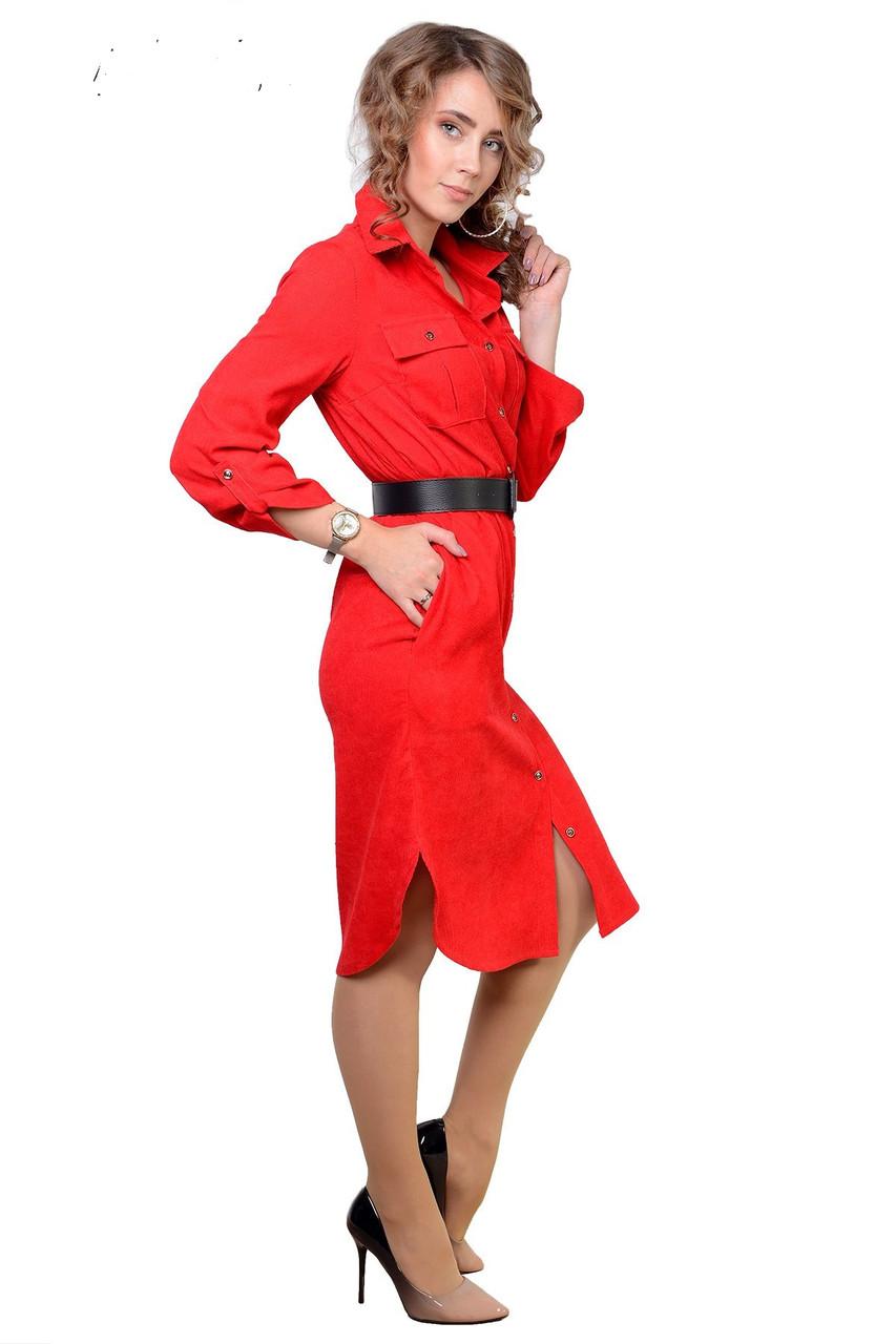 Интересное женское платье-рубашка (рр.48-54)