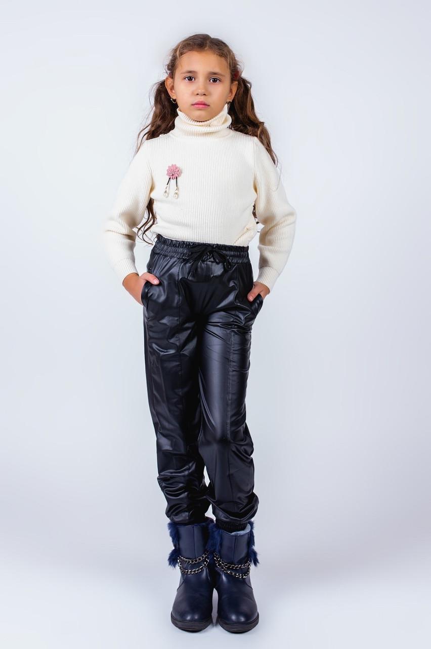 Штаны для девочки эко-кожа