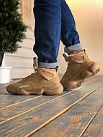 Зимние кроссовки Adidas Yeezy 500 Utility Brown (НА МЕХУ), фото 1