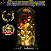 "Святящаяся роза в футляре - ""Golden Rose"""