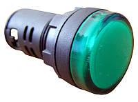 Сигнальна арматура AD16-22DS зелена 220V АC