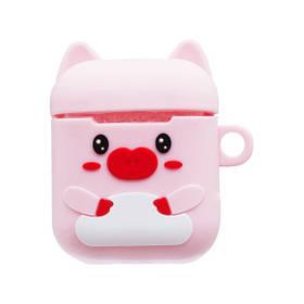 Чехол для наушников Apple AirPods Funny Pig