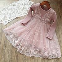 Платье с кружевом для девочки размер110.