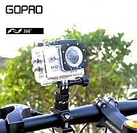 Крепление для GoPro(крепление на велосипед, на трубу) 360° для GoPro, фото 1