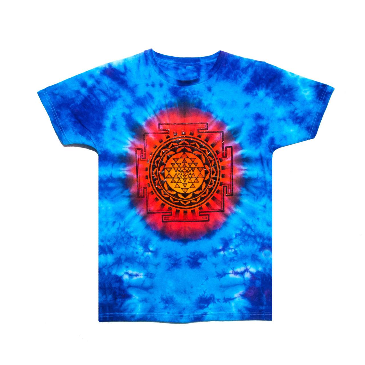 Чоловіча футболка тай-дай з малюнком Шрі-Янтра
