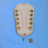 Заготовка для Бизиборда Кроссовок Кед для шнуровки, бизиборд, бизикуб