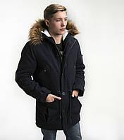 Мужская зимняя куртка парка молодежная коттон Украина 55