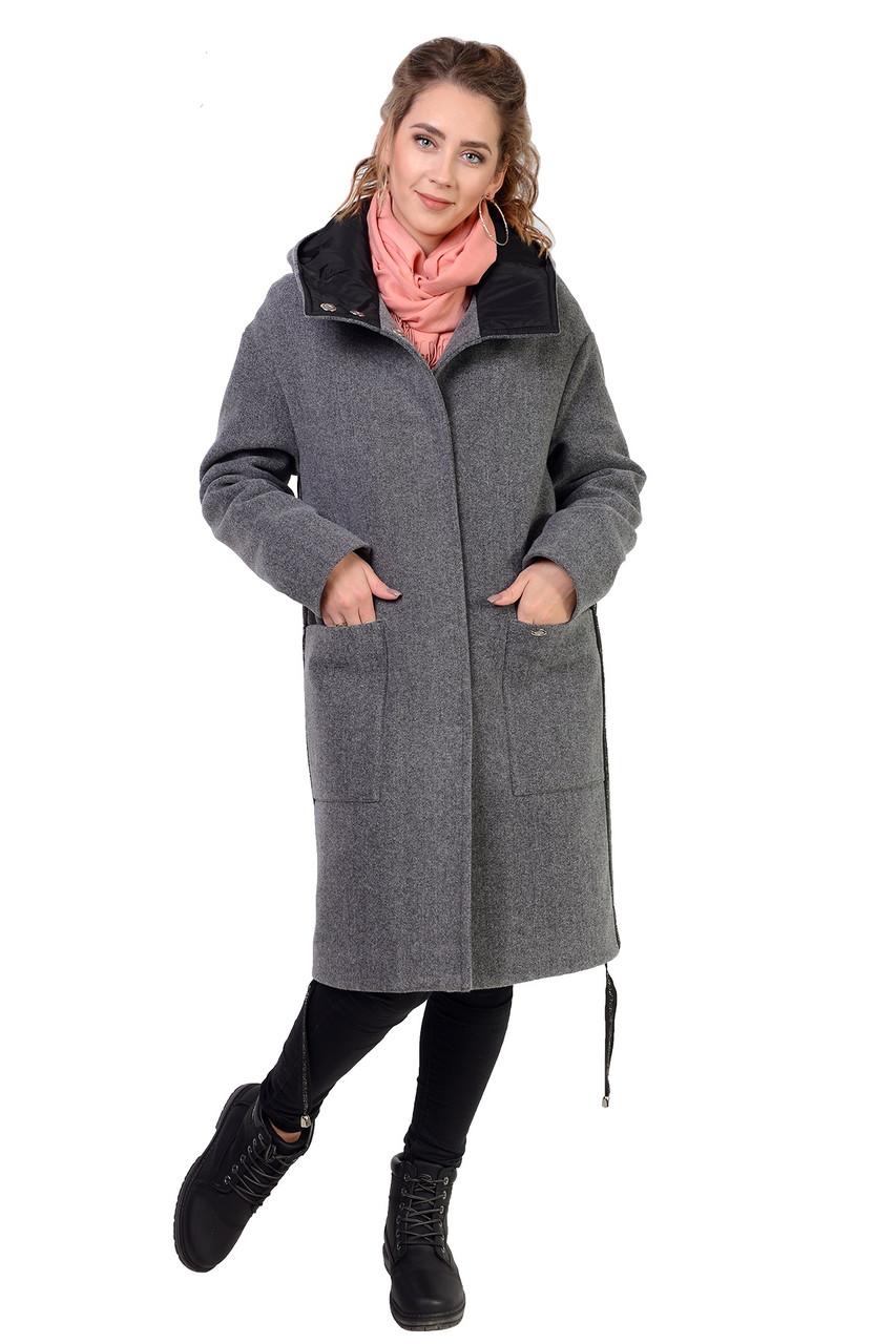 Модное женское пальто утеплённое синтепоном