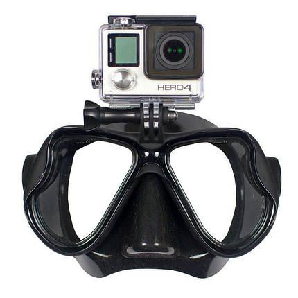 Маска для дайвинга с креплением для GoPro черный, фото 2